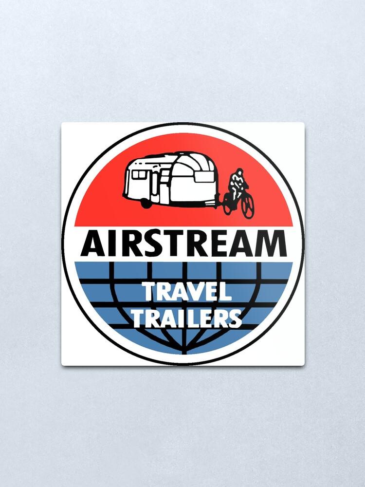 Alternate view of Airstream Travel Trailer Vintage Decal Metal Print