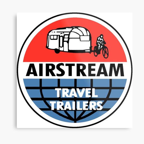 Airstream Travel Trailer Vintage Decal Metal Print