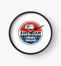 Airstream Travel Trailer Vintage Decal Clock