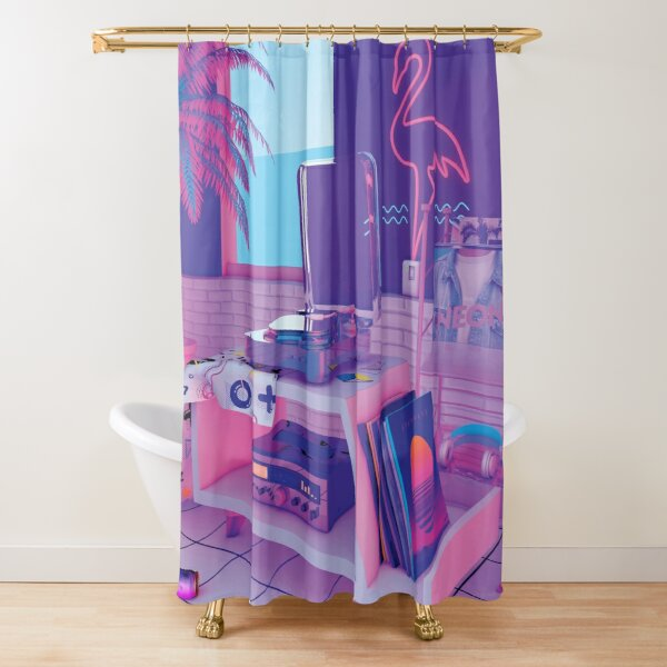 s p i n n i n g w a v e Shower Curtain