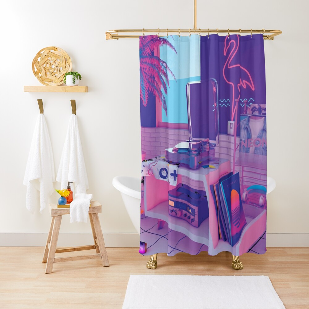 s p i n n i n g w a v e Shower Curtain