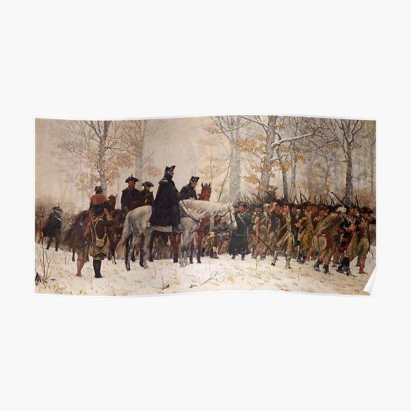 Washington Overlooking His Men Poster