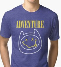 Finn Adventure Time Smile Tri-blend T-Shirt