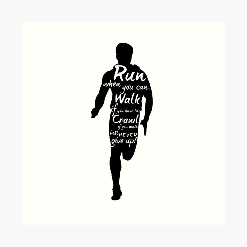 Der Läufer Kunstdruck