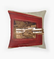 Paddleboat escape Throw Pillow