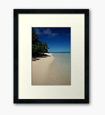 Rarotongan Beach Framed Print