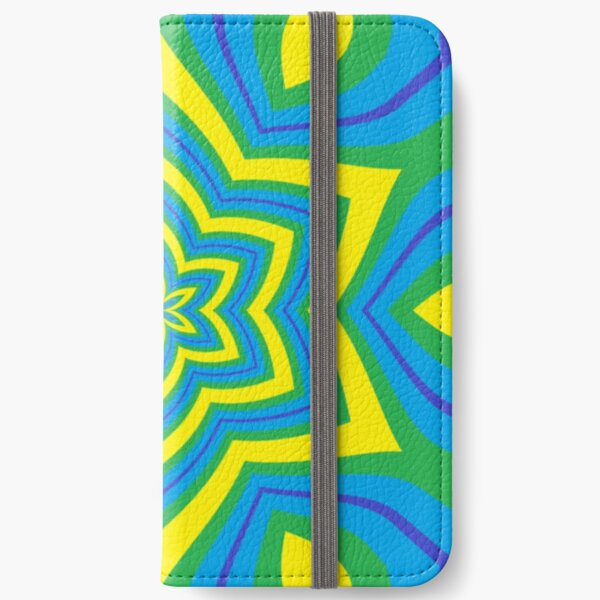 #Design, #abstract, #pattern, #illustration, psychedelic, vortex, modern, art, decoration iPhone Wallet