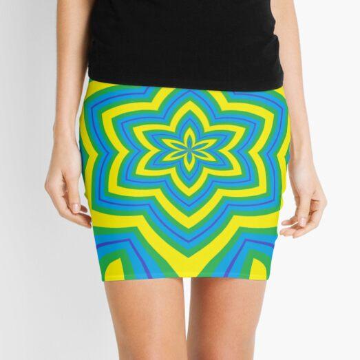 #Design, #abstract, #pattern, #illustration, psychedelic, vortex, modern, art, decoration Mini Skirt