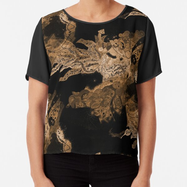 Carrickalinga Waves Gold Chiffon Top