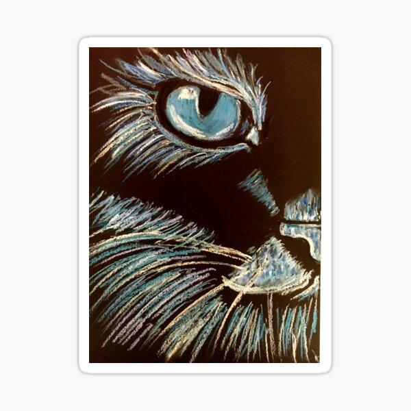 Blue Kitty. Sticker