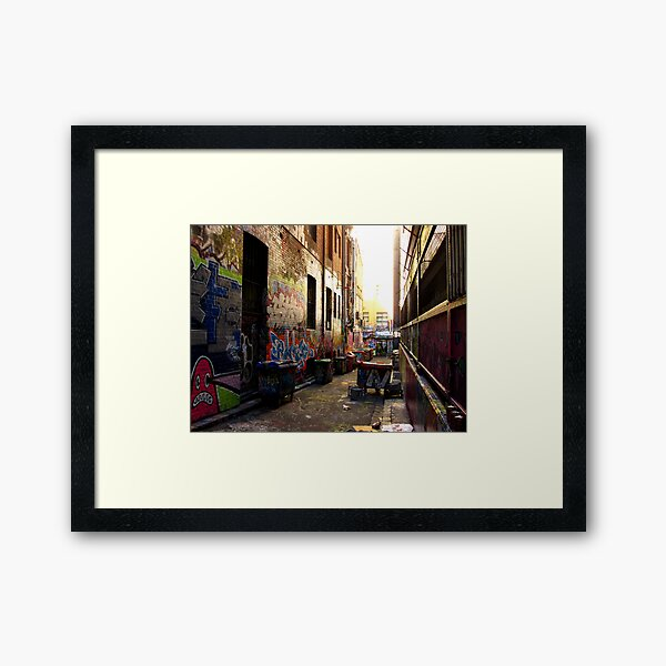Back Lane - Melbourne's Graffiti, Hossier Lane Framed Art Print