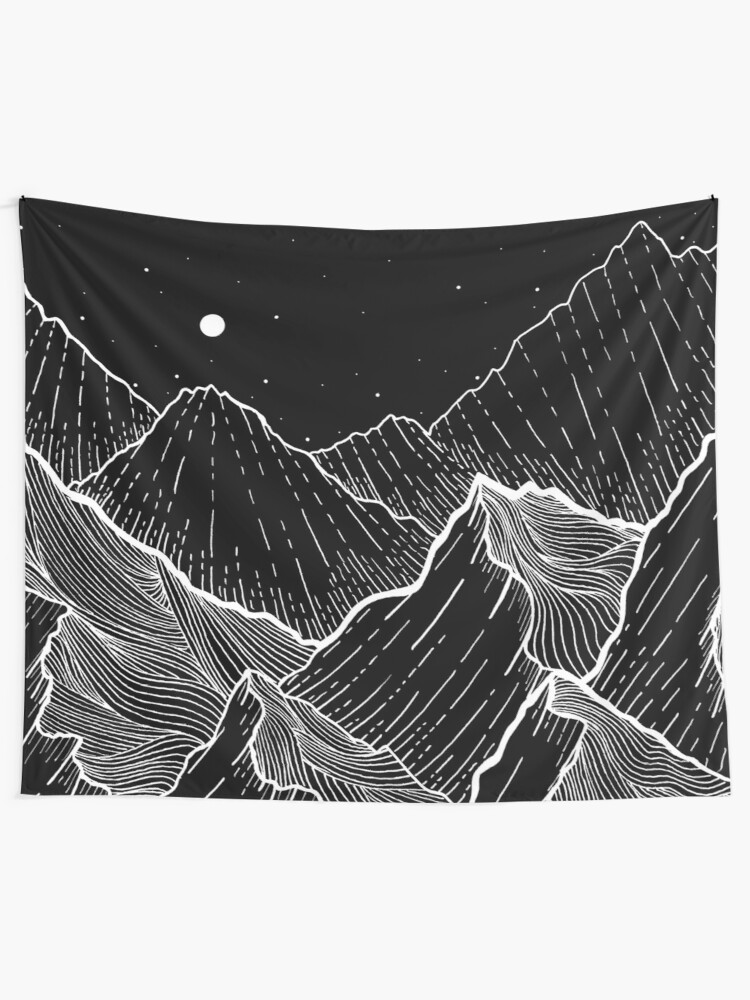 Alternate view of Sea Mountains Tapestry