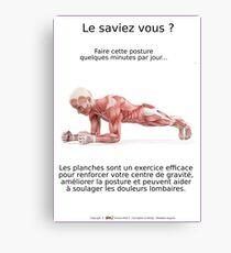 Planches Musculo-squelettique des positions de Yoga - N°2 Impression sur toile