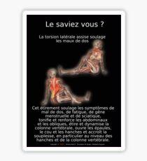 Planches Musculo-squelettique des positions de Yoga - N°6 Sticker