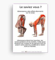 Planches Musculo-squelettique des positions de Yoga - N°7 Impression sur toile