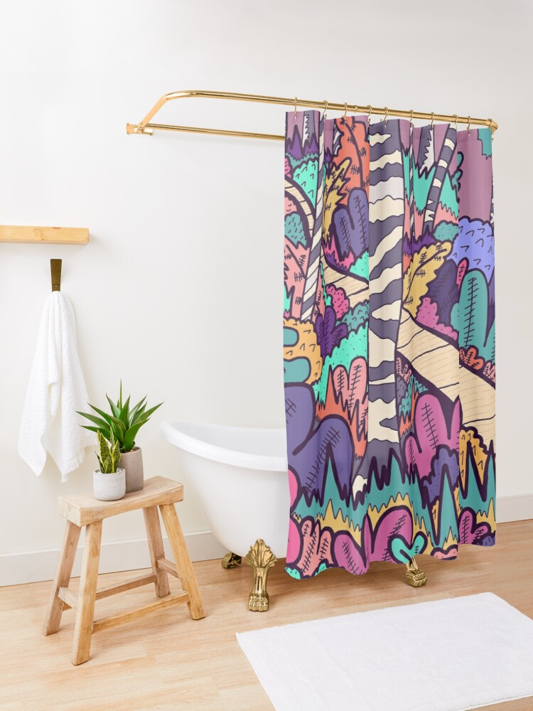 Alternate view of The woodland walk Shower Curtain