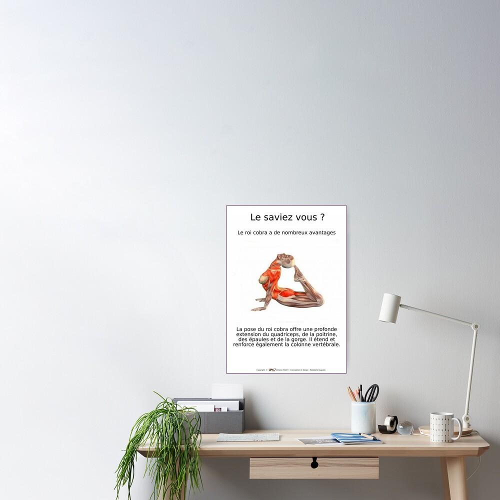 Poster «Planches Musculo-squelettique des positions de Yoga - N°8»
