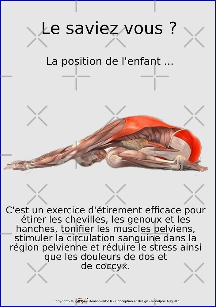 « Planches Musculo-squelettique des positions de Yoga - N°12 » par rodolphe Augusto