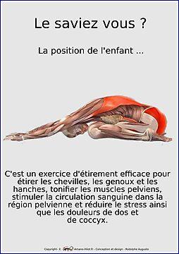Planches Musculo-squelettique des positions de Yoga - N°12