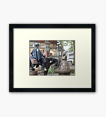 The Cop, the Horse, the Fountain and Chief Seattle Framed Print