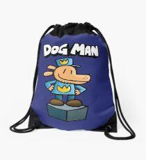 Dog Man Drawstring Bag
