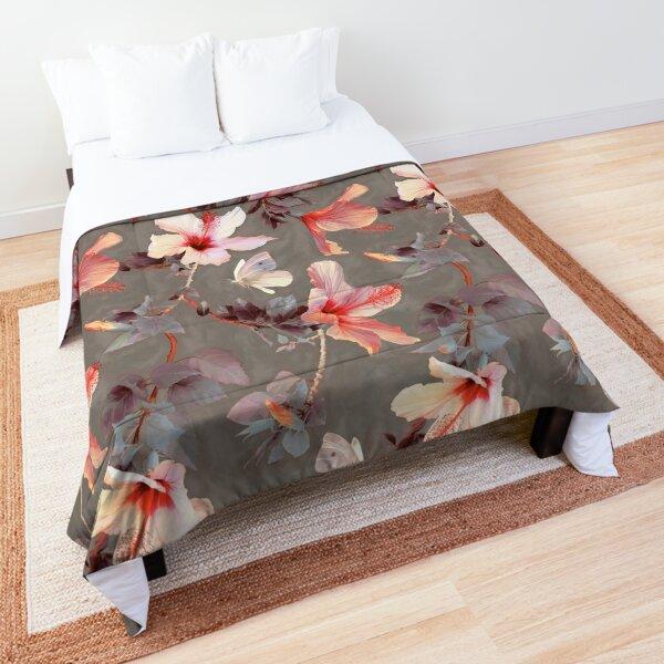 Coral Hibiscus Comforter