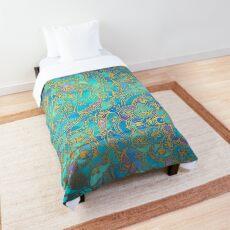 Sapphire & Jade Stained Glass Mandalas Comforter
