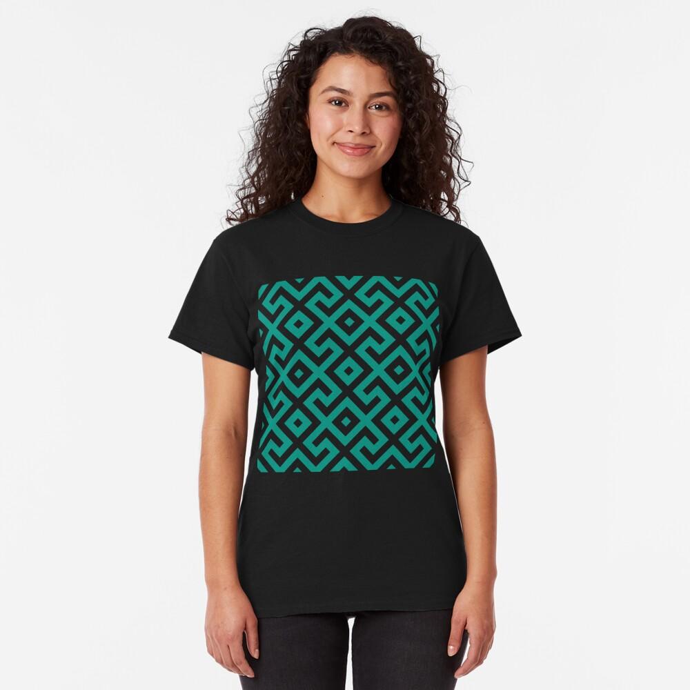 Geometric Pattern: Spider: Green Classic T-Shirt