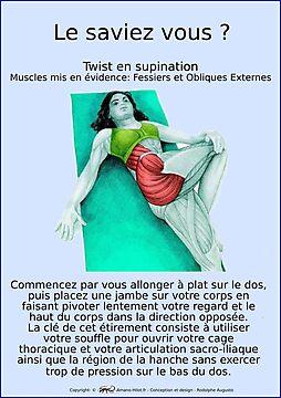 Planches Musculo-squelettique des positions de Yoga - N°17