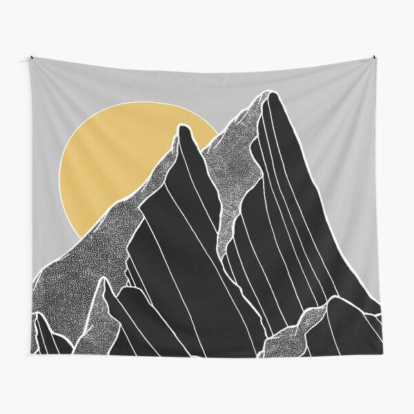 The dark peaks under the golden sun Tapestry