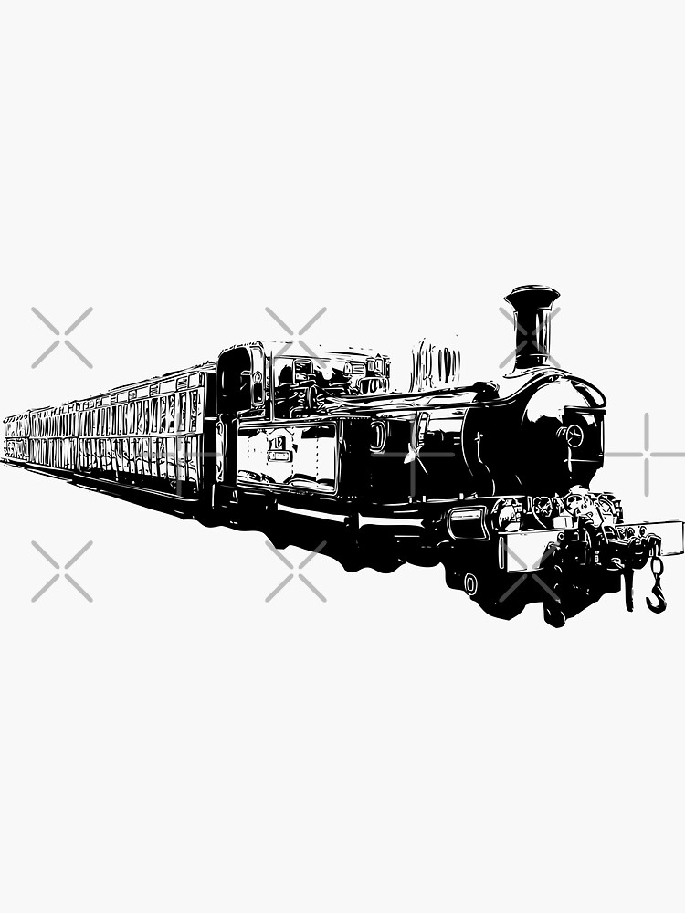 Isle of Man Steam Train by tribbledesign