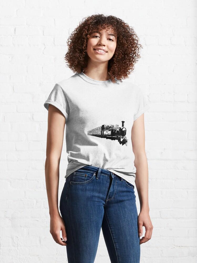 Alternate view of Isle of Man Steam Train Classic T-Shirt