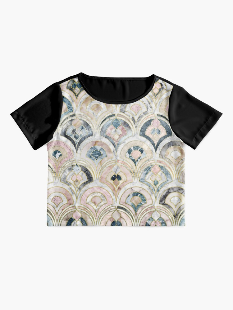 Alternate view of Art Deco Marble Tiles in Soft Pastels Chiffon Top