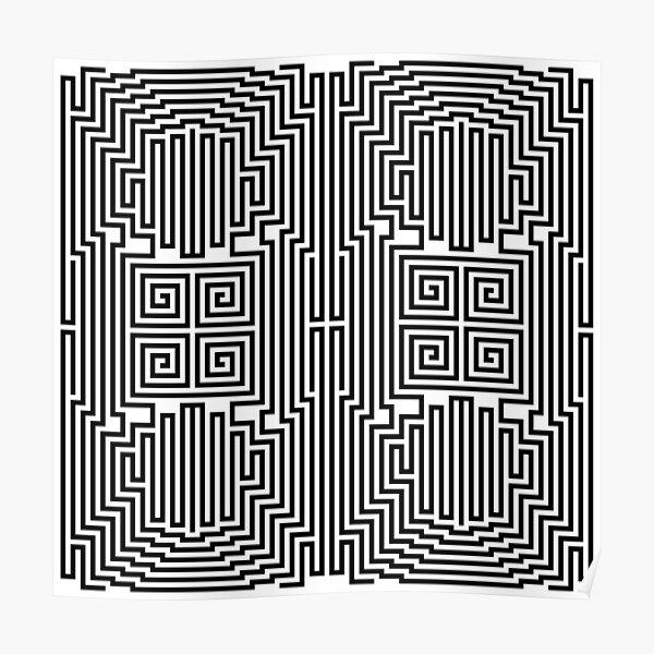 #Design, #abstract, #pattern, #illustration, psychedelic, vortex, modern, art, decoration Poster