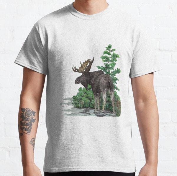 Moose watercolor  Classic T-Shirt