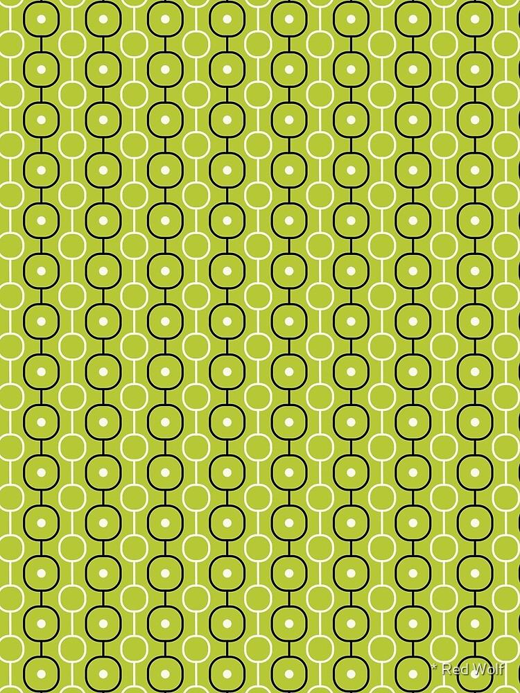 Geometric Pattern: Circle Chain: Lime/Black by redwolfoz