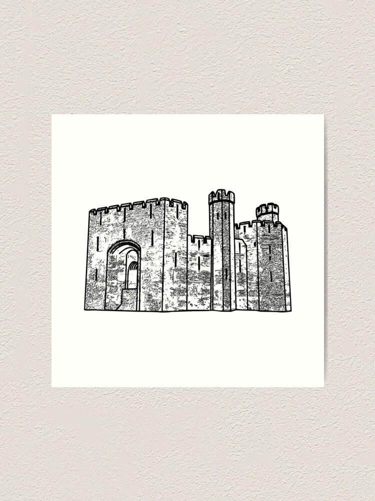 Alternate view of Caernarfon Castle Vector Art Print