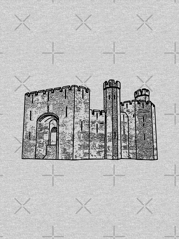 Caernarfon Castle Vector by tribbledesign