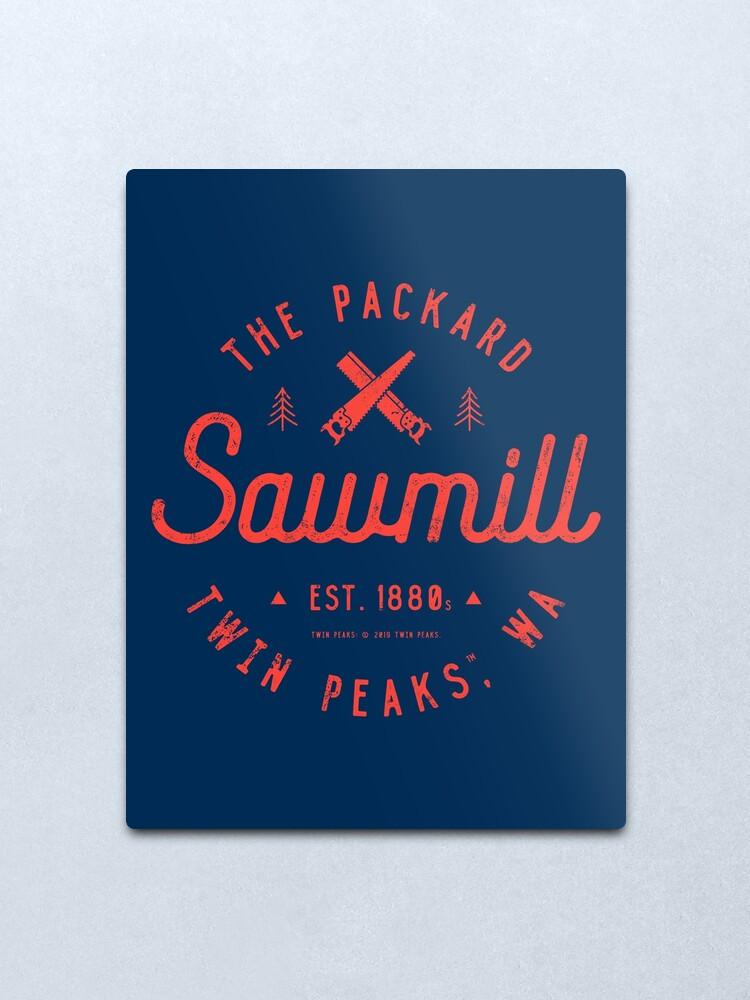 Alternate view of The Packard Sawmill, Twin Peaks Metal Print