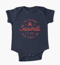 The Packard Sawmill, Twin Peaks Short Sleeve Baby One-Piece