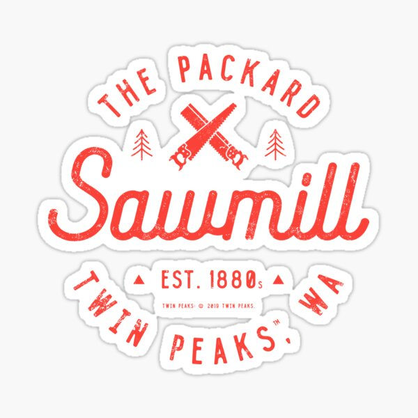 La scierie Packard, Twin Peaks Sticker