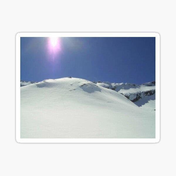Snowy mountain top Sticker