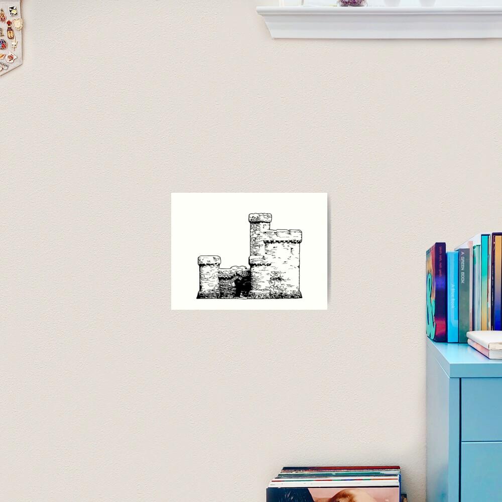 Tower of Refuge Castle Isle of Man Art Print