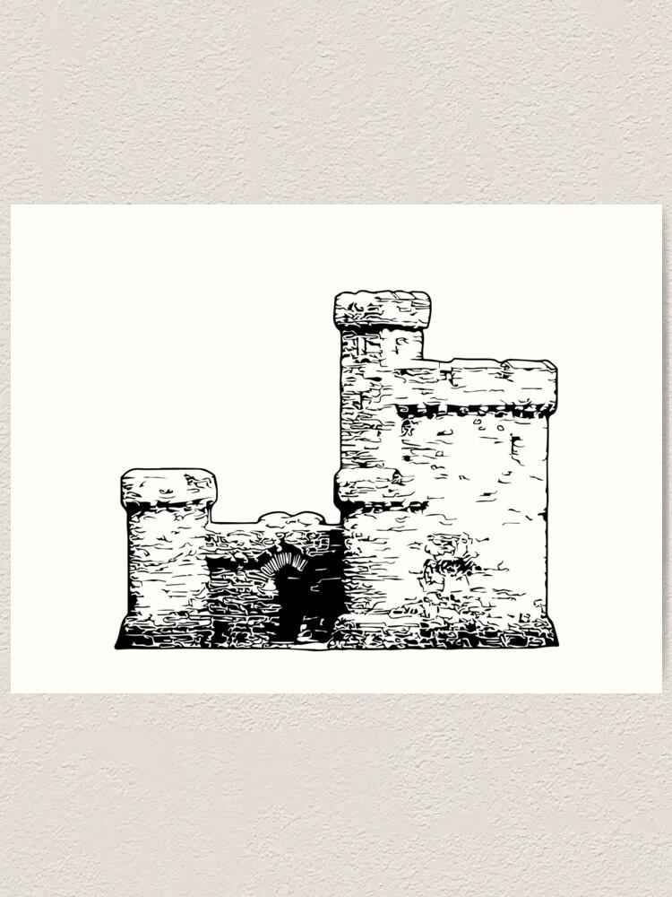 Alternate view of Tower of Refuge Castle Isle of Man Art Print