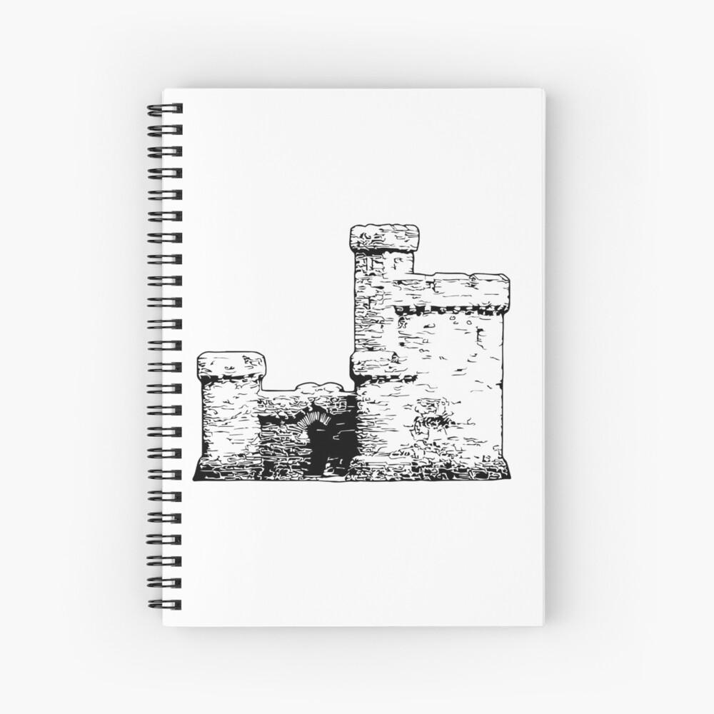 Tower of Refuge Castle Isle of Man Spiral Notebook