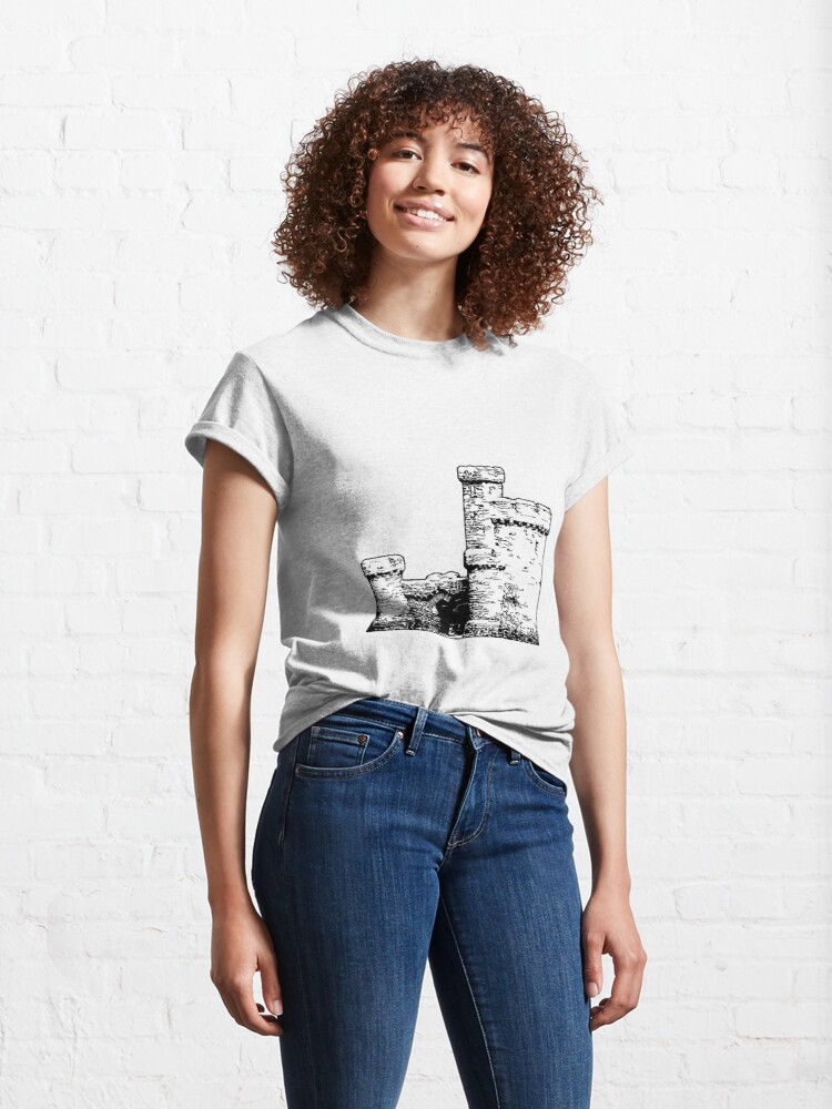Alternate view of Tower of Refuge Castle Isle of Man Classic T-Shirt