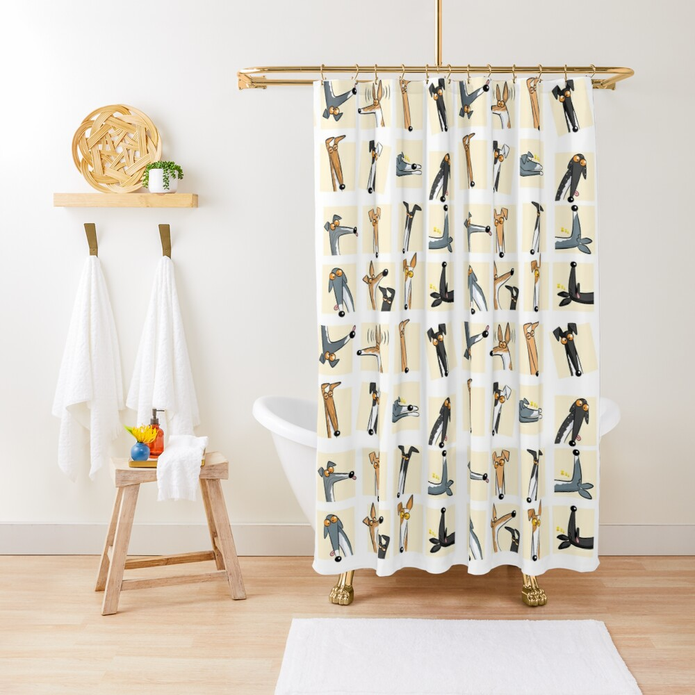 Heads up: Cream Shower Curtain