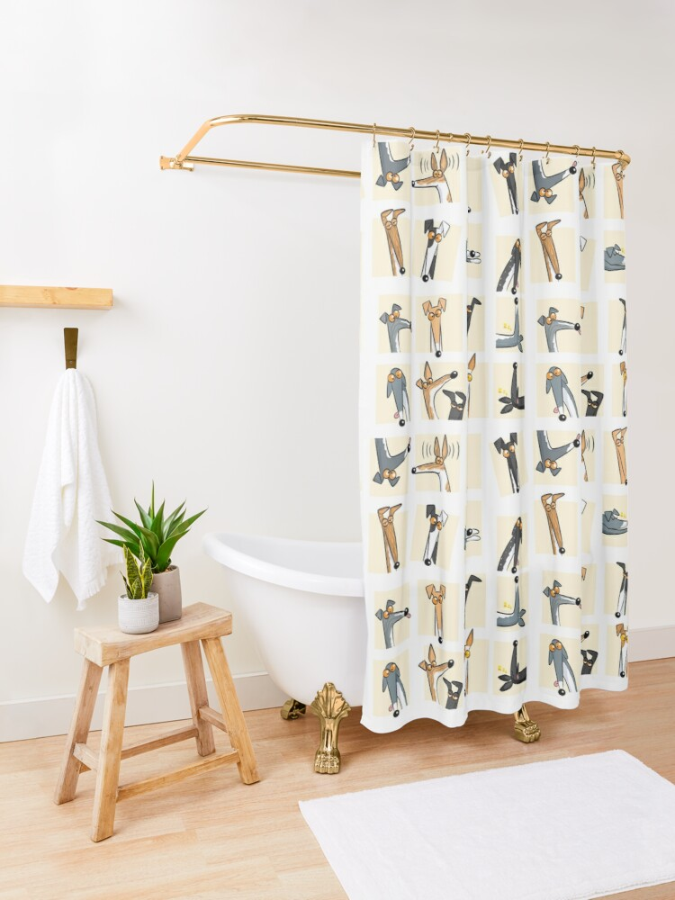 Alternate view of Heads up: Cream Shower Curtain