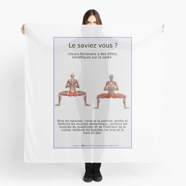 Planches Musculo-squelettique des positions de Yoga - N°32 Foulard