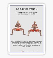 Planches Musculo-squelettique des positions de Yoga - N°32 Sticker